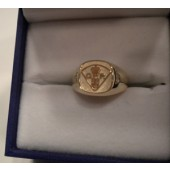 Ladies 10kt Shoulder Flash Ring