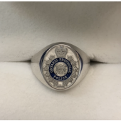 OPP Hat Badge Ring Sterling Silver